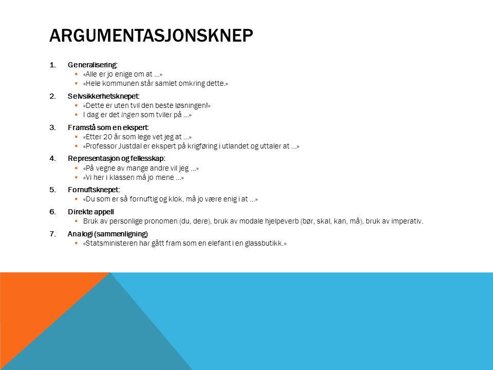 HVORDAN SKRIVE EN ARGUMENTERENDE TEKST.1.Innledning  Presenterer emnet og problemstillingen.