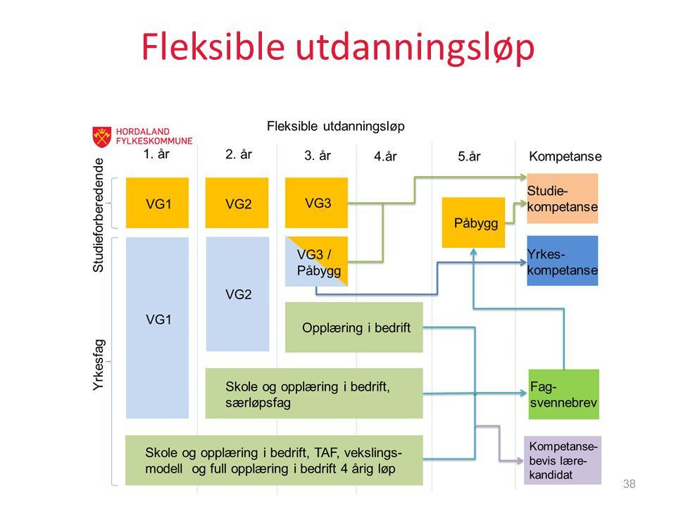 Fleksible utdanningsløp 38