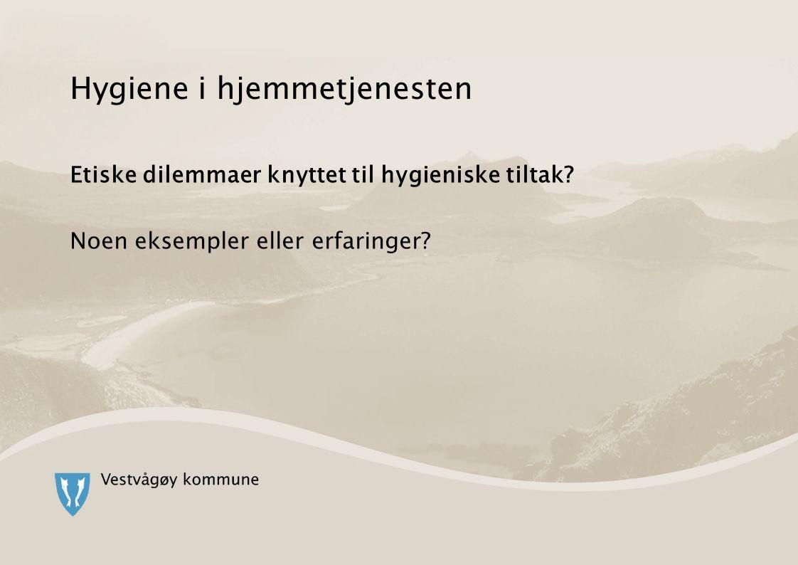 Hygiene i hjemmetjenesten Etiske dilemmaer knyttet til hygieniske tiltak? Noen eksempler eller erfaringer?
