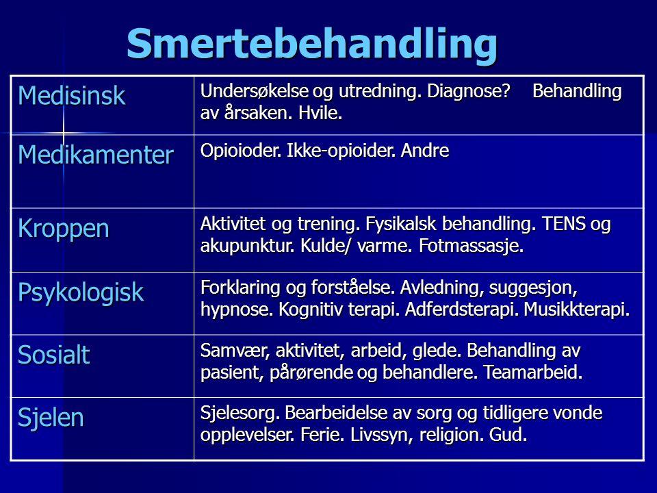 Smertebehandling Smertebehandling Medisinsk Undersøkelse og utredning.