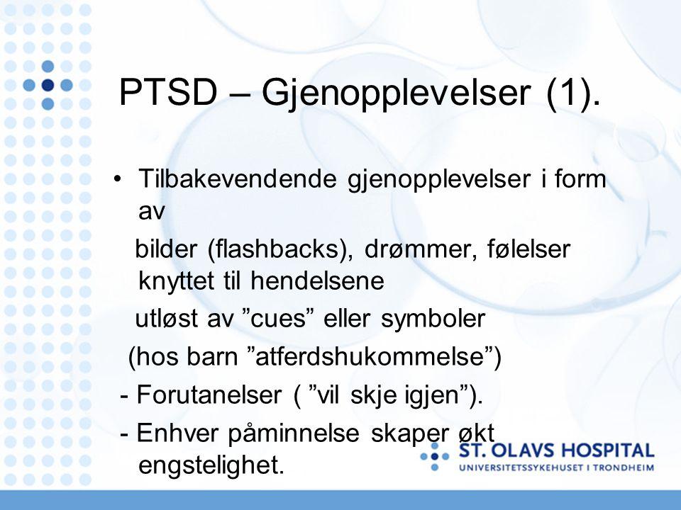 PTSD – Gjenopplevelser (1).