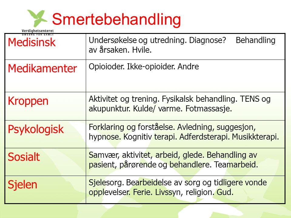 Smertebehandling Medisinsk Undersøkelse og utredning.