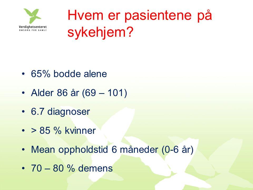 Hvem er pasientene på sykehjem.