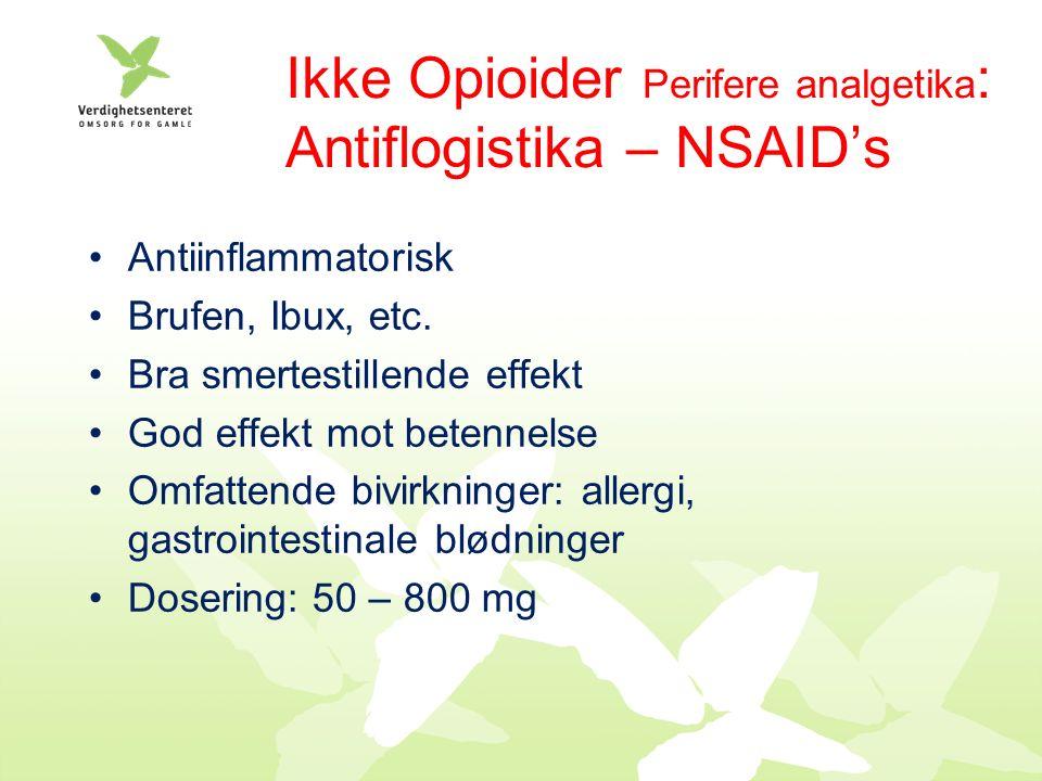 Antiinflammatorisk Brufen, Ibux, etc.