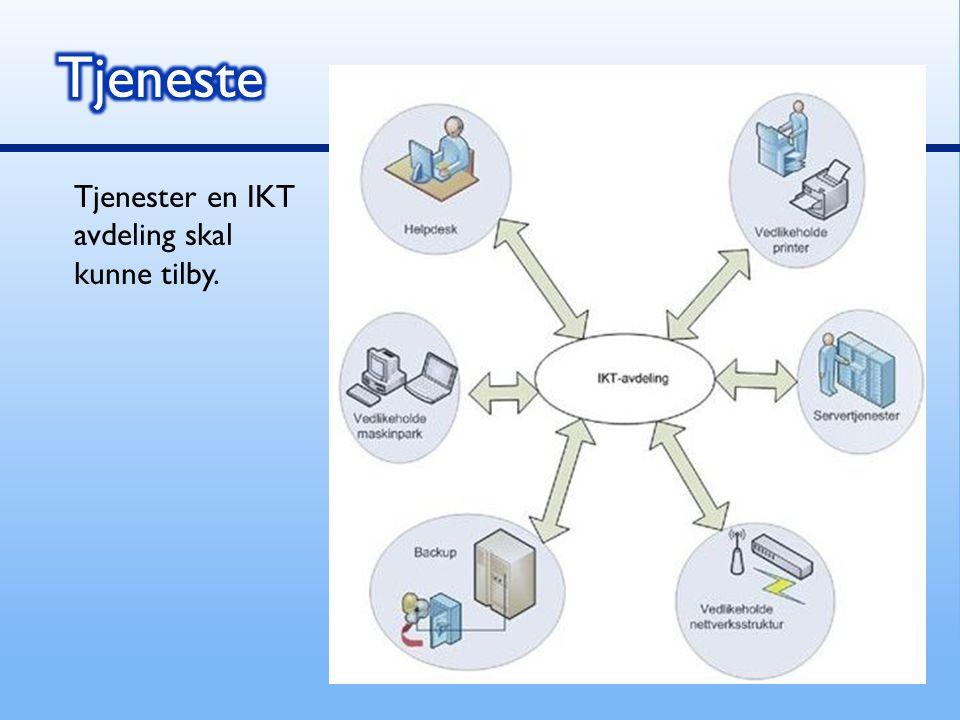 Tjenester en IKT avdeling skal kunne tilby.