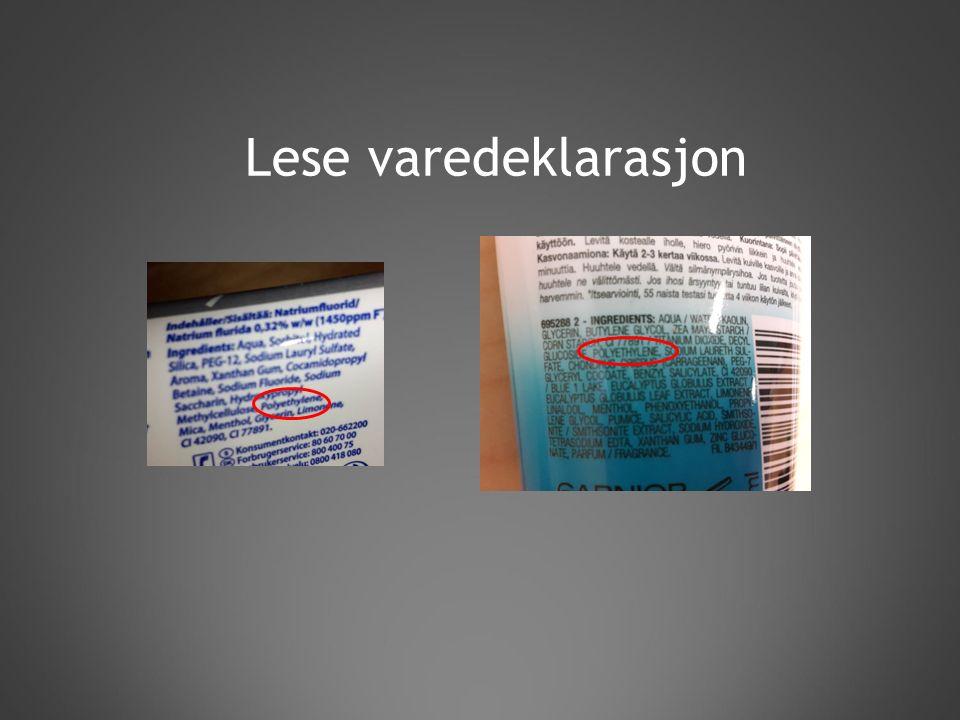 Lese varedeklarasjon
