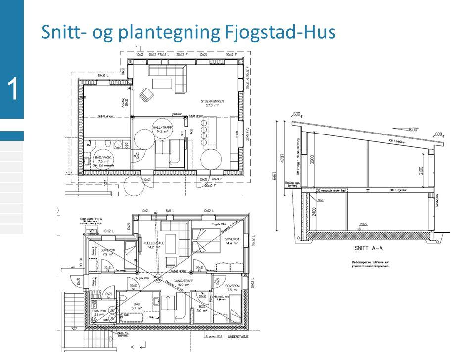 1 Snitt- og plantegning Fjogstad-Hus