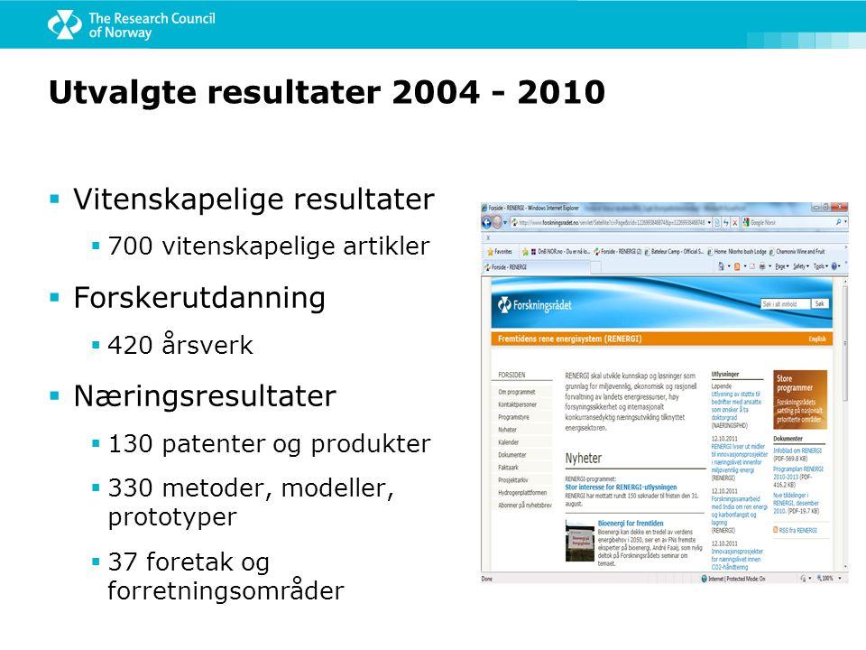  Weyland i Bergen, etter 3 RENERGI-prosjekter  Eget pilotanlegg  Posisjon internasjonalt  Fått støtte fra Miljøteknologiordningen  Enzymforskning ved UMB resulterte i Science-artikkel høsten 2010  Forskere ved UiB og PFI har utviklet en lovende lignin-til- drivstoff prosess  3 av de 4 nyetablerte TFI Bio-prosjektene (Nordisk Energiforskning) har norske deltakere fra det sterke biodrivstoffmiljøet i Trondheim  Norsk raffineri- og treforedlingskompetanse er mobilisert for den kommende bioøkonomien Resultatene begynner å komme - bio