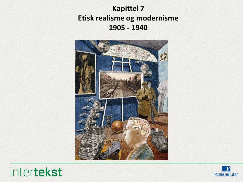 Kapittel 7 Etisk realisme og modernisme 1905 - 1940