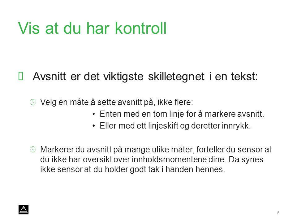 www.stavanger-kulturhus.no Kunsten å svare på oppgaven 17