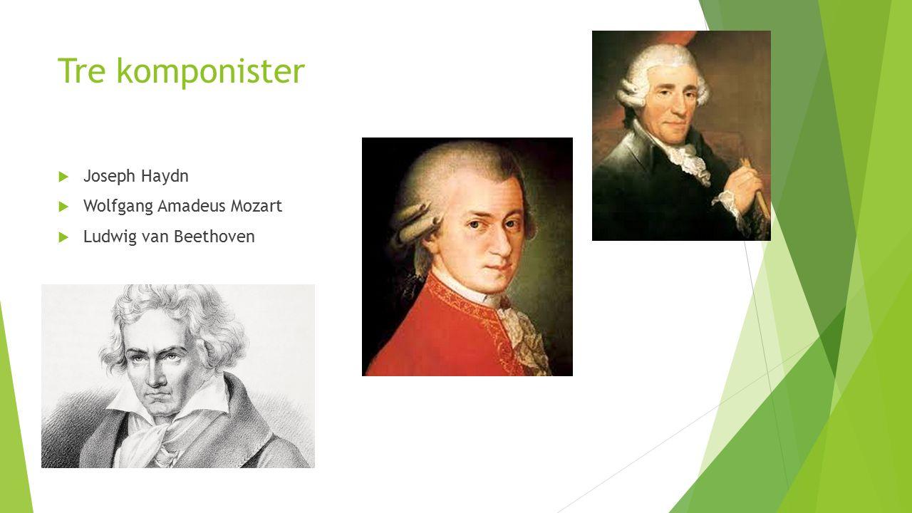 Musikken i Wienerklassisisme:  Musikken blir mer lettfattelig og «folkelig»  Mer sangbare melodier og temaer  Hovedtema og sidetema.