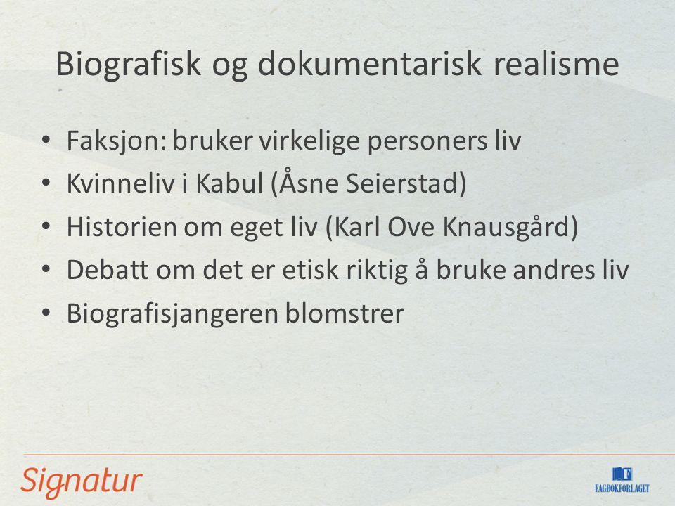 Moderne arbeiderlitteratur Klassereise (Lars Ove Seljestad) Innvandring og åpnere grenser Økonomiske problemer og utnytting (Kristian Lundberg)