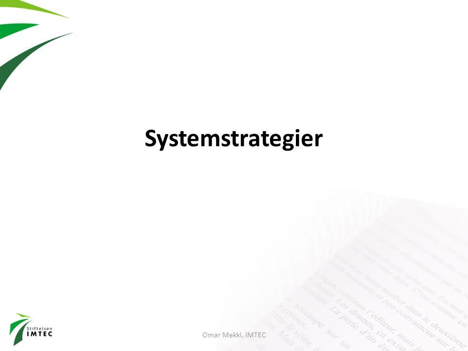 Systemstrategier Omar Mekki, IMTEC