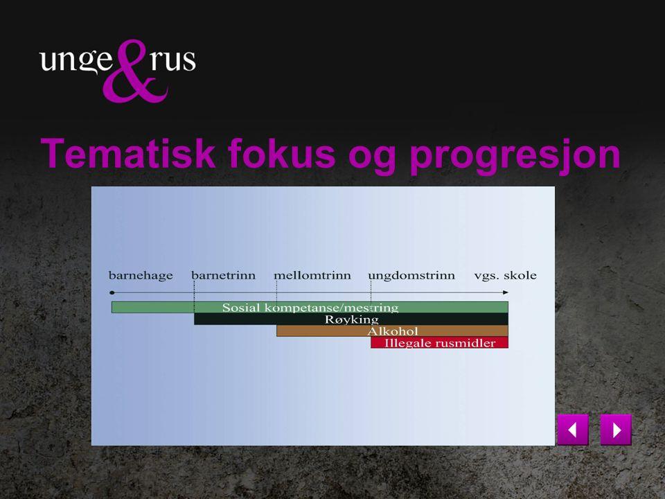 Tematisk fokus og progresjon