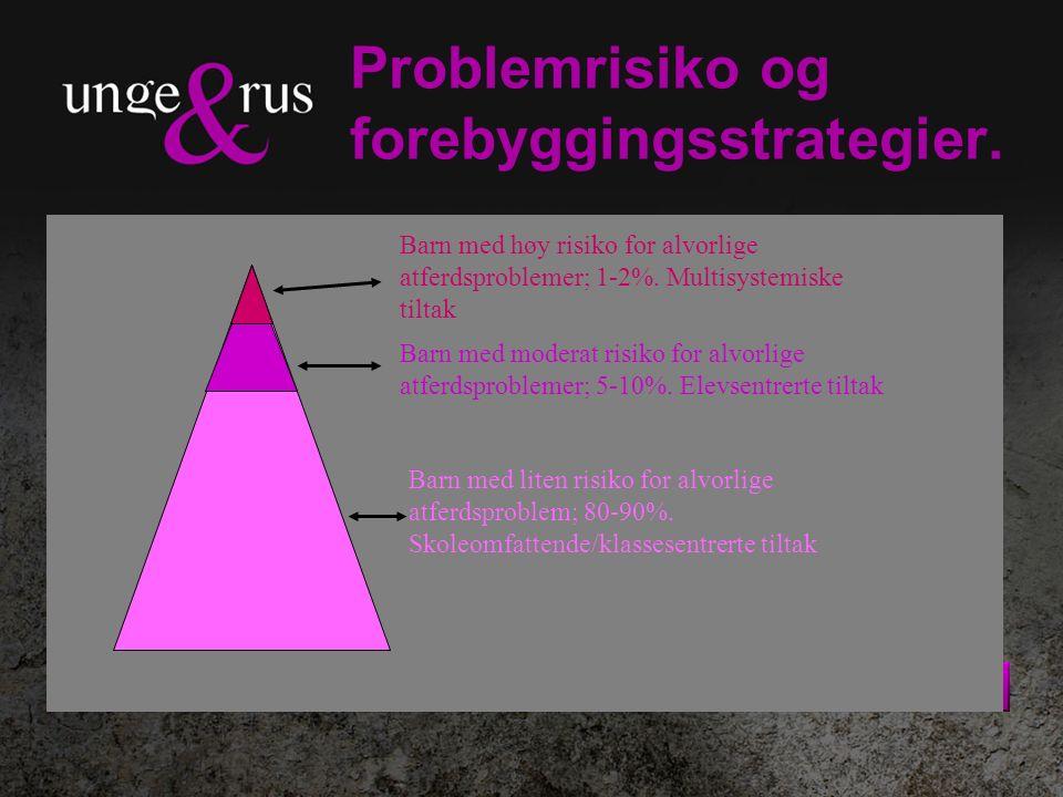 Problemrisiko og forebyggingsstrategier. Barn med høy risiko for alvorlige atferdsproblemer; 1-2%.