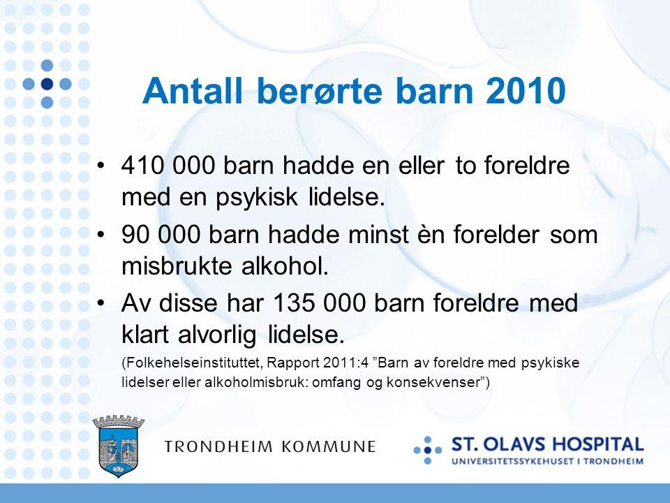 Litteratur Helsedirektoratet: Rundskriv IS – 5 / 2010: Barn som pårørende Glistrup, Karen: Det barn ikke vet, har de vondt av.