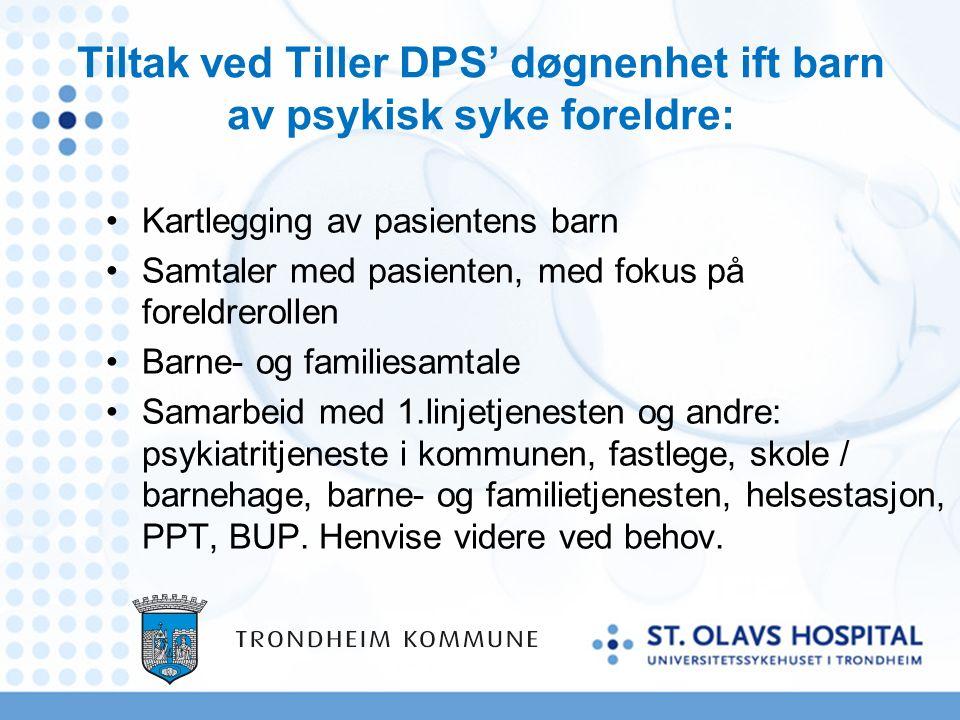 Oppfølging av barn som pårørende i kommunen Ingen krav til barneansvarlig, men har et ansvar iht helsepersonelloven.