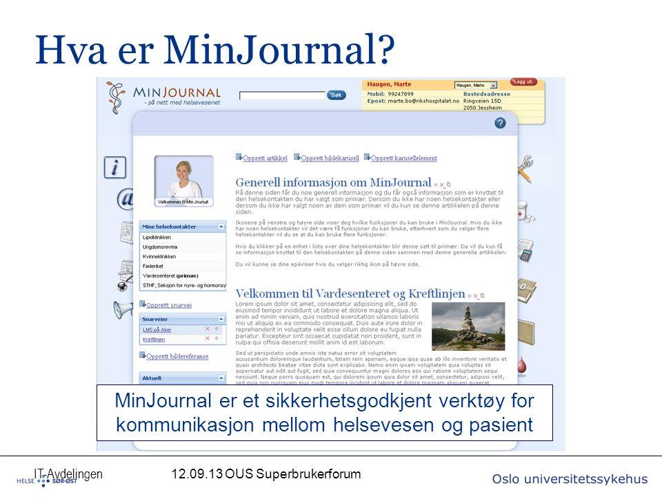 IT-Avdelingen Hva er MinJournal.