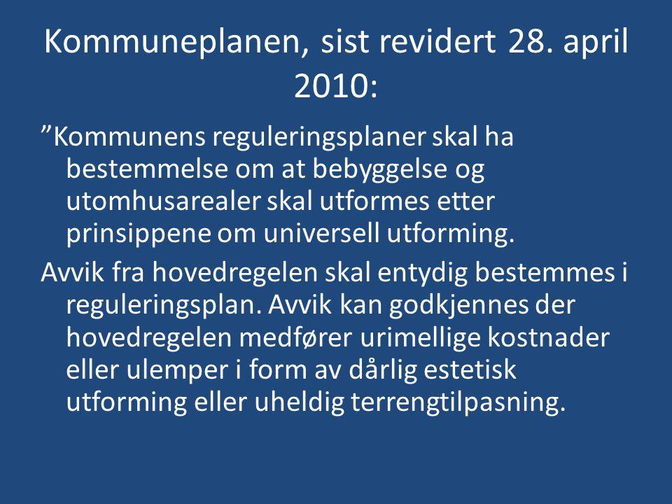 Kommuneplanen, sist revidert 28.