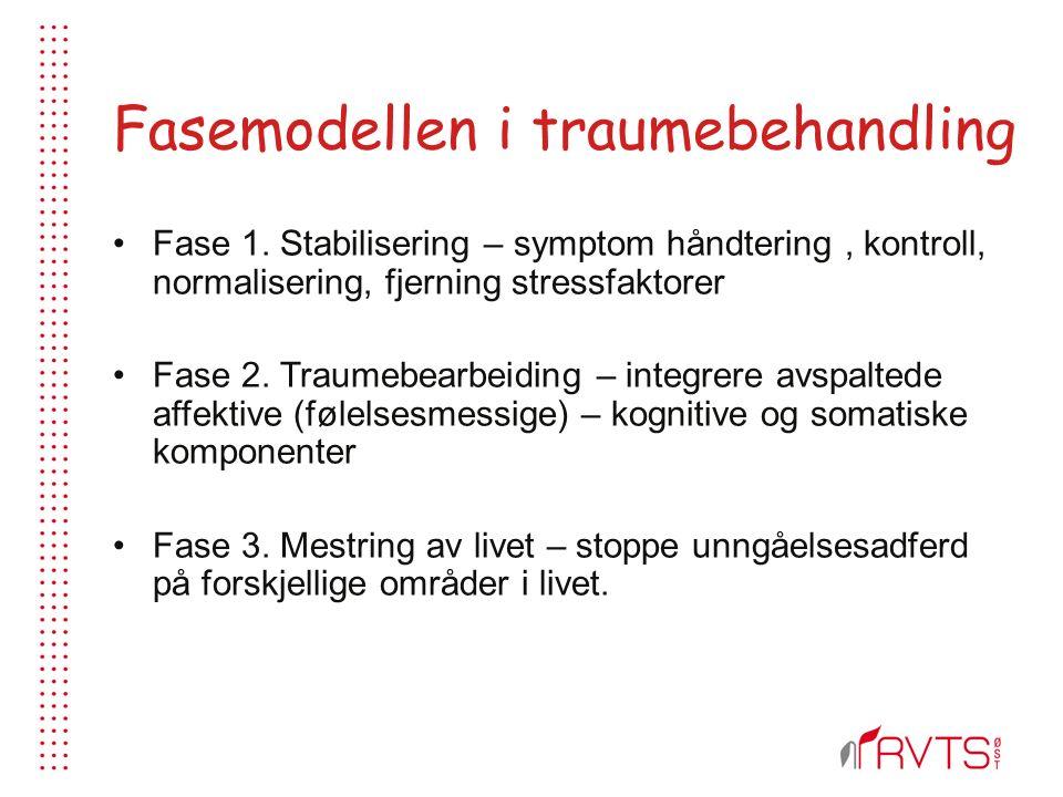 Fasemodellen i traumebehandling Fase 1.