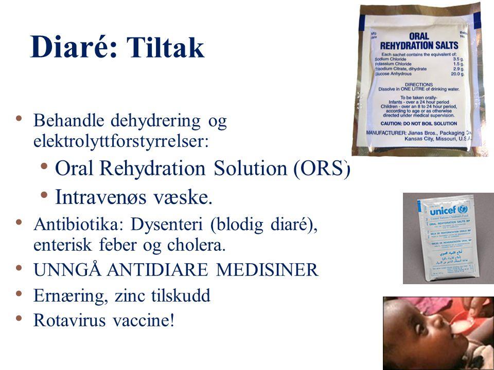Diaré 14 Største farer er: i. Dehydrering ii. Kronisk diaré* iii.
