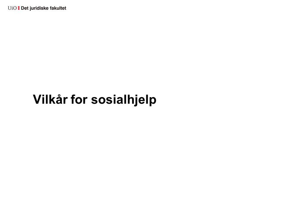 Vilkår for sosialhjelp