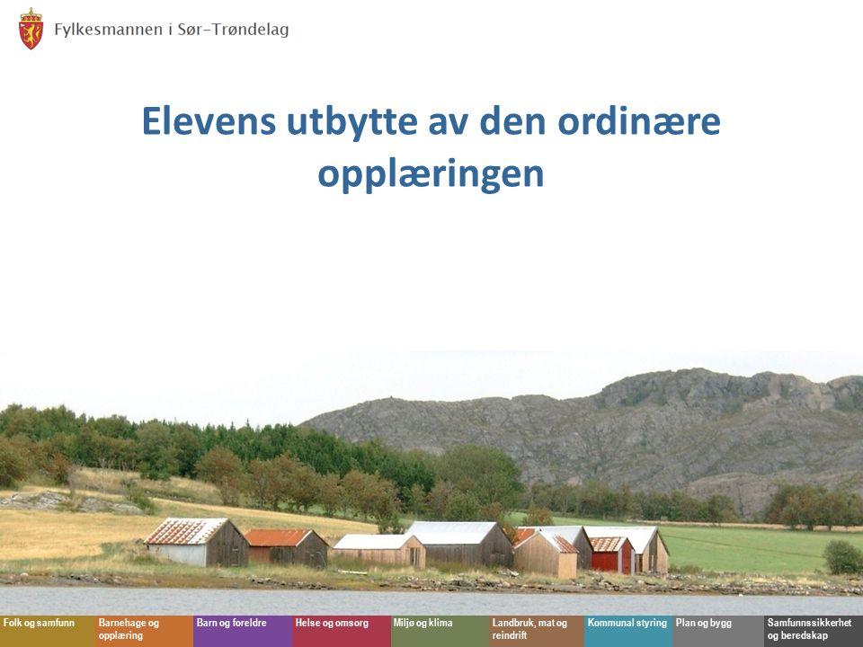 Fylkesmannen i Sør-Trøndelag Folk og samfunnBarnehage og opplæring Barn og foreldreHelse og omsorgMiljø og klimaLandbruk, mat og reindrift Kommunal st
