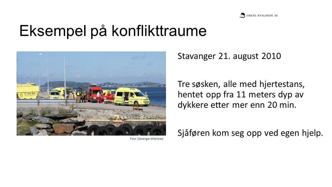 Eksempel på konflikttraume Stavanger 21.