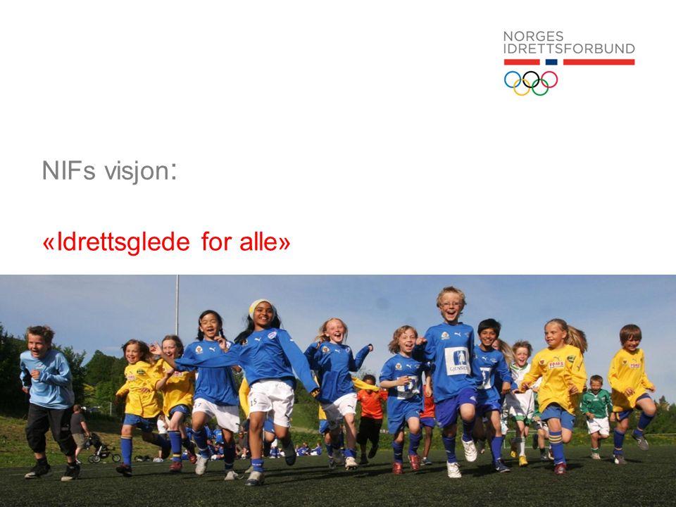 Idrettens verdigrunnlag Organisasjonsverdier: Organisasjonens arbeid skal preges av frivillighet, demokrati, lojalitet og likeverd Aktivitetsverdier: All idrettslig aktivitet skal bygge på grunnverdier som glede, fellesskap, helse og ærlighet