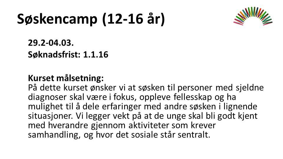 Søskencamp (12-16 år) 29.2-04.03.