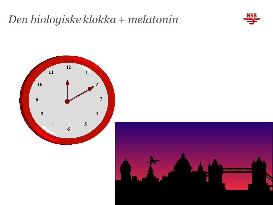 Den biologiske klokka + melatonin