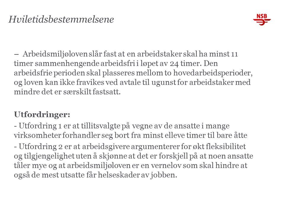 Søvnforstyrrelser (STAMI-rapport 1/2014) Konklusjon forts.
