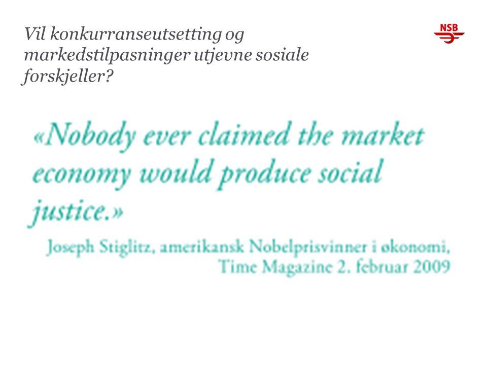 Vil konkurranseutsetting og markedstilpasninger utjevne sosiale forskjeller