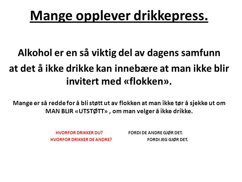 Mange opplever drikkepress.