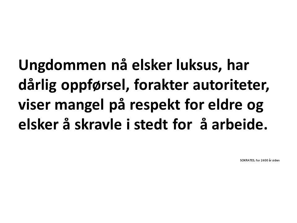 NOEN MÅ GÅ FØRST, DU ELLER EN ANNEN.