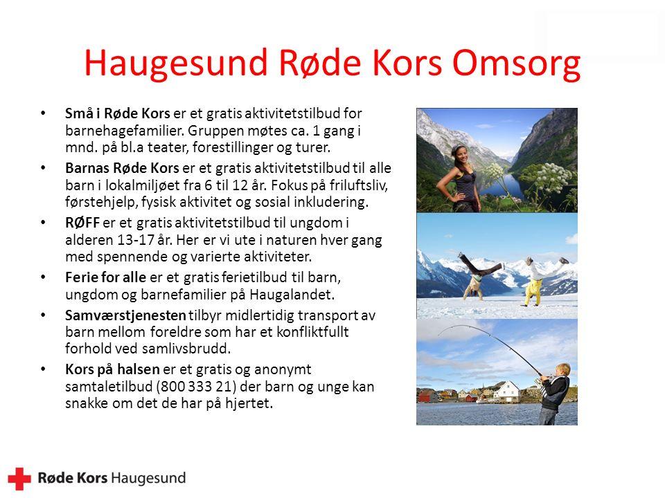 Haugesund Røde Kors Omsorg Små i Røde Kors er et gratis aktivitetstilbud for barnehagefamilier.