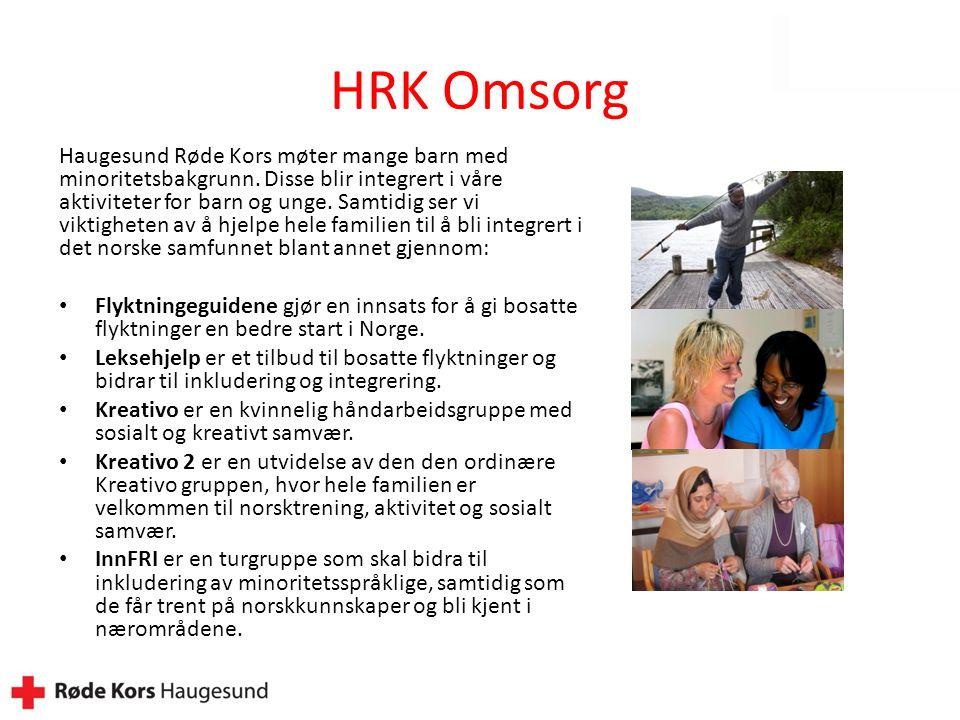 HRK Omsorg Haugesund Røde Kors møter mange barn med minoritetsbakgrunn.