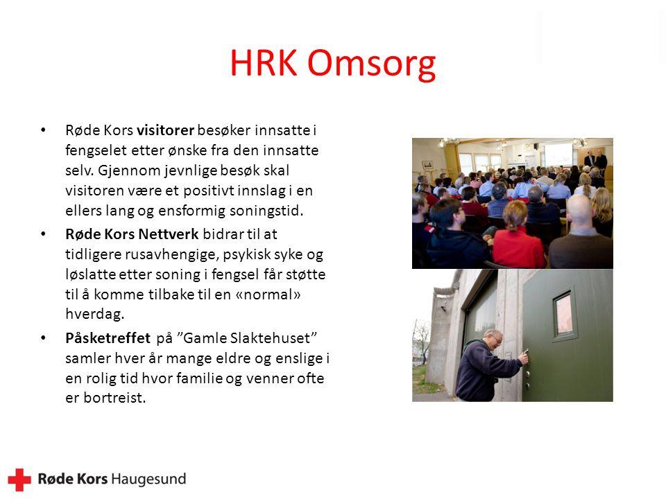 HRK Omsorg Røde Kors visitorer besøker innsatte i fengselet etter ønske fra den innsatte selv.