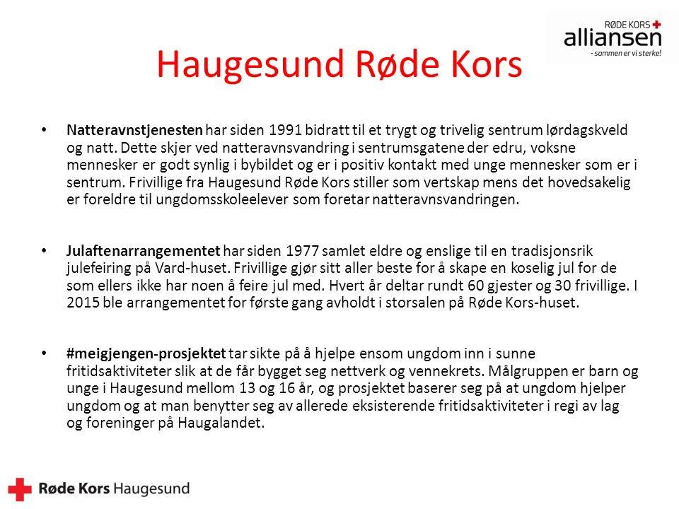 Haugesund Røde Kors Natteravnstjenesten har siden 1991 bidratt til et trygt og trivelig sentrum lørdagskveld og natt.