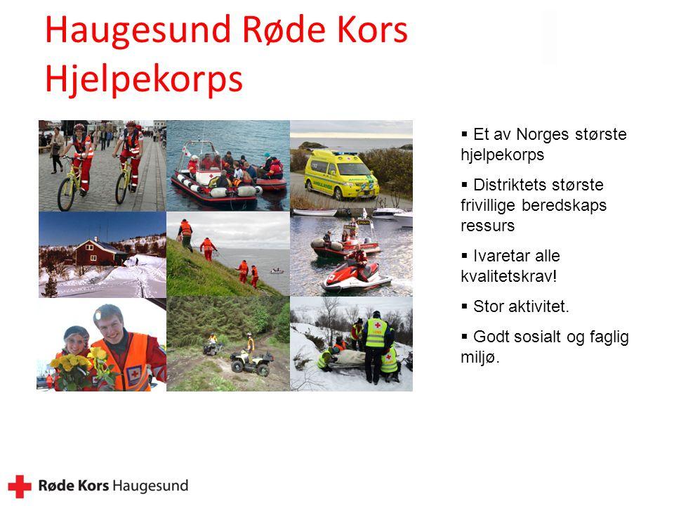  Et av Norges største hjelpekorps  Distriktets største frivillige beredskaps ressurs  Ivaretar alle kvalitetskrav.