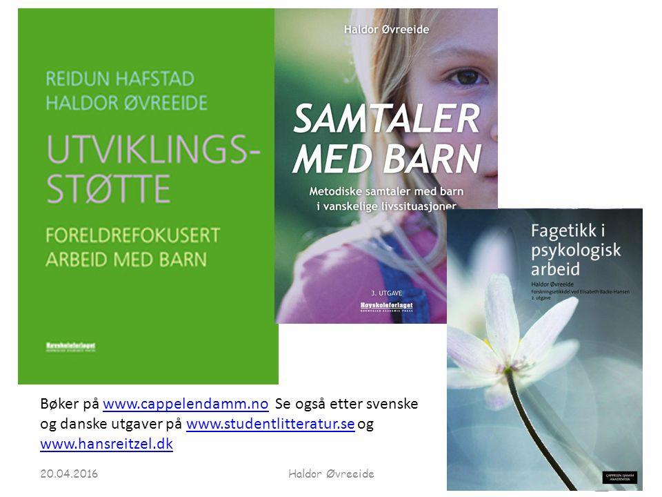 Bøker på www.cappelendamm.no Se også etter svenske og danske utgaver på www.studentlitteratur.se og www.hansreitzel.dkwww.cappelendamm.nowww.studentlitteratur.se www.hansreitzel.dk 20.04.2016Haldor Øvreeide
