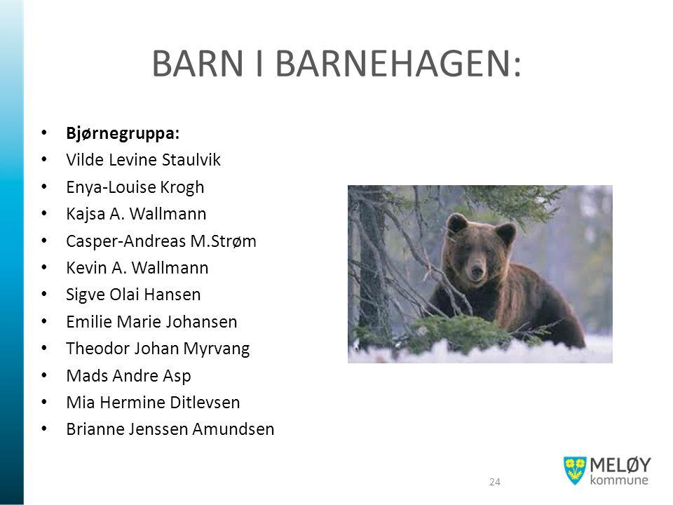 BARN I BARNEHAGEN: Bjørnegruppa: Vilde Levine Staulvik Enya-Louise Krogh Kajsa A.