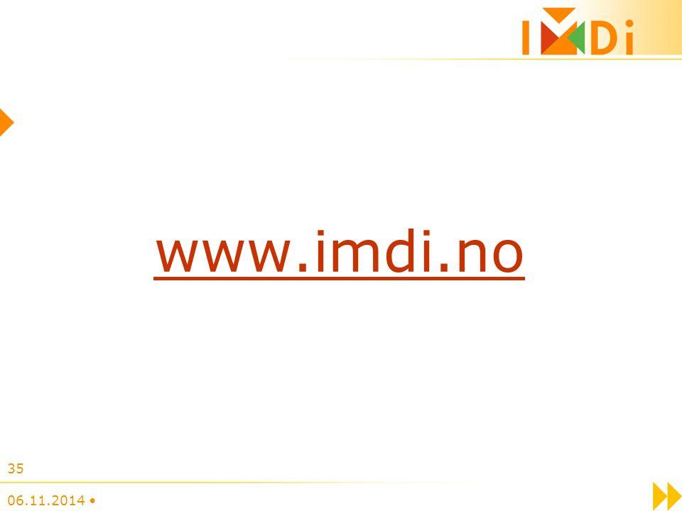 www.imdi.no 06.11.2014 35