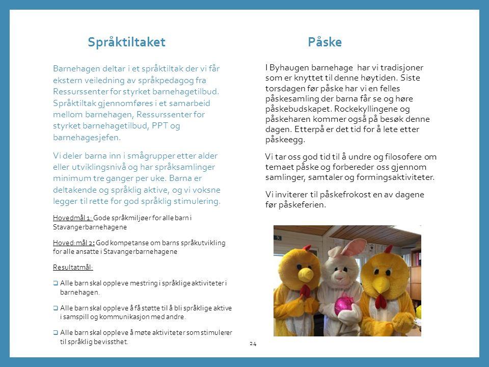 Språktiltaket Påske I Byhaugen barnehage har vi tradisjoner som er knyttet til denne høytiden.