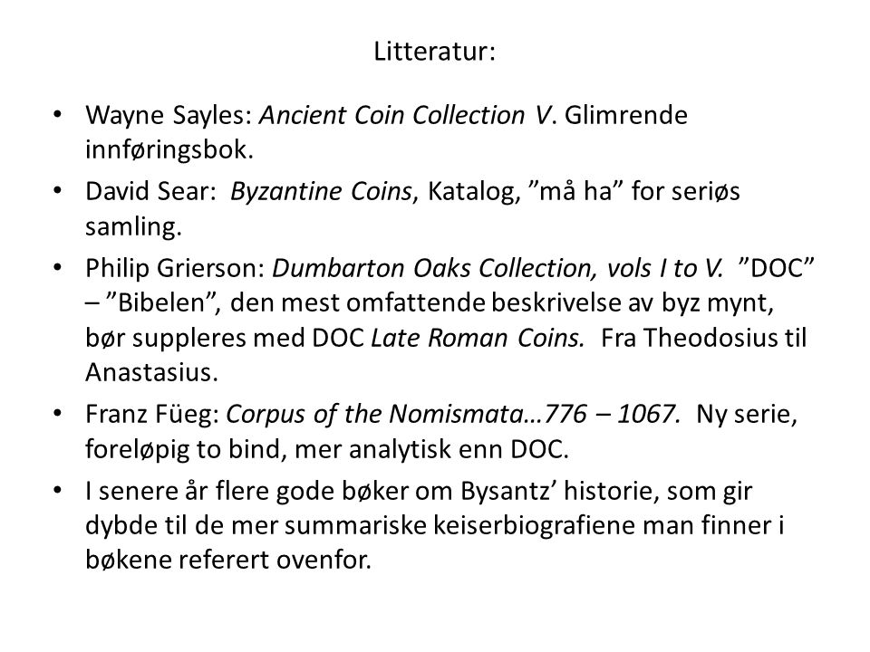 Litteratur: Wayne Sayles: Ancient Coin Collection V.