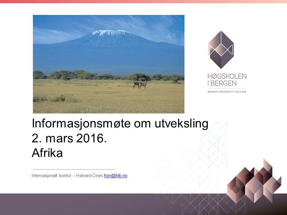 Informasjonsmøte om utveksling 2. mars 2016.