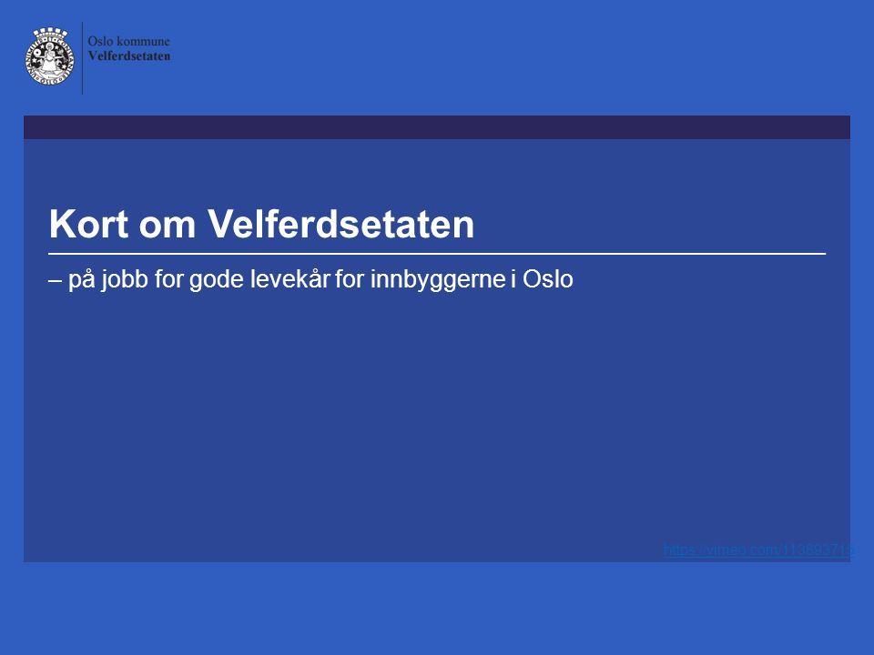 Kort om Velferdsetaten – på jobb for gode levekår for innbyggerne i Oslo https://vimeo.com/113893715