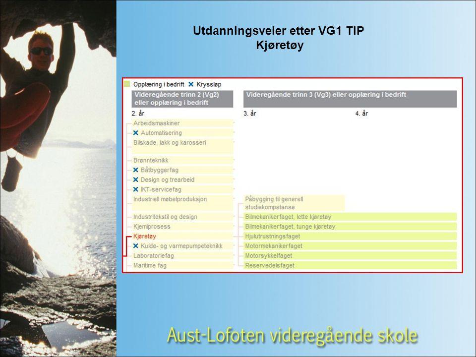 Utdanningsveier etter VG1 TIP Kjøretøy