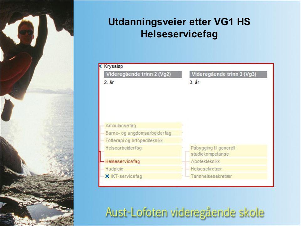 Utdanningsveier etter VG1 HS Helseservicefag