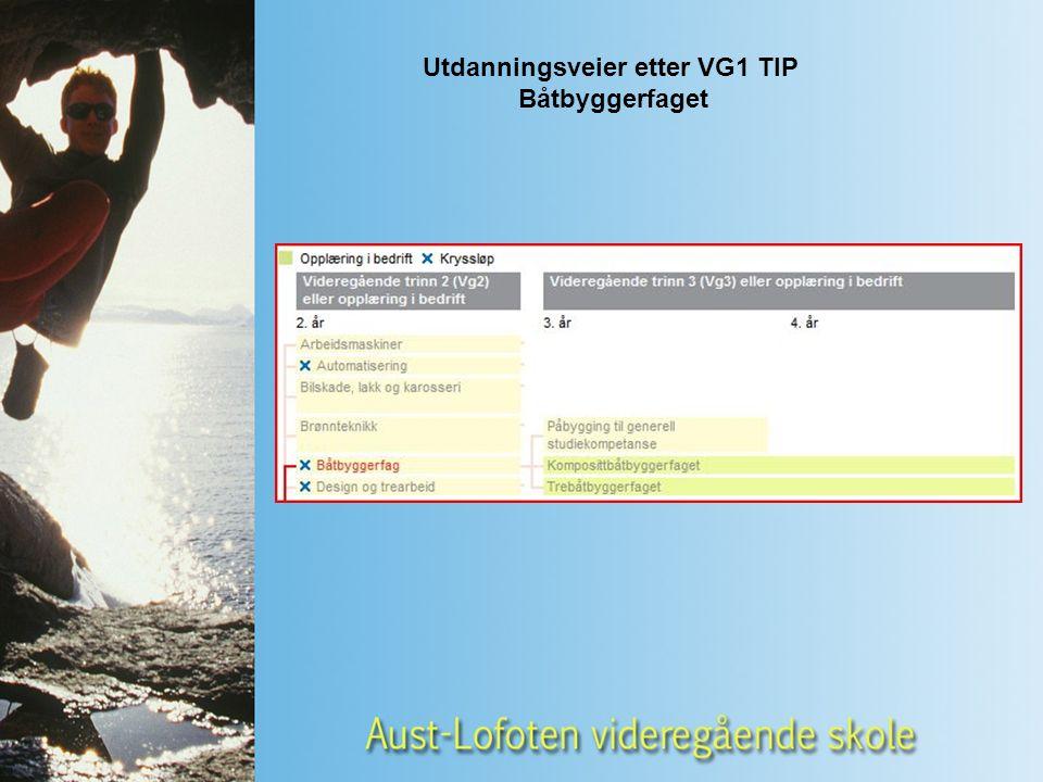 Utdanningsveier etter VG1 TIP Båtbyggerfaget